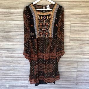 Anthropologie munro embroidered tunic dress